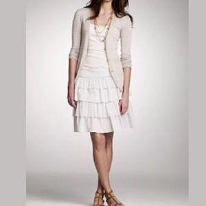 J. CREW Tiered Crinkle Ruffle skirt Silk cotton